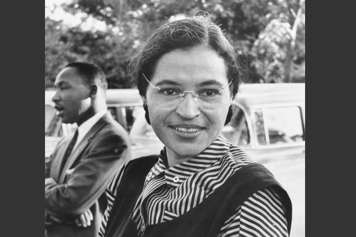 Rosa Parks is one of the famous female leaders of the American civil rights movement.