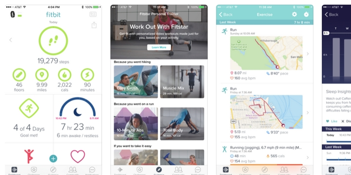 Fitbit - Best bike app for tracking heart rate